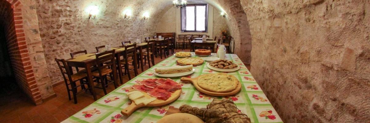 tavolo ristorante agriturismo a Norcia